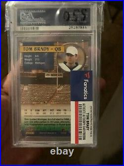 Tom Brady Pacific Rookie Card Autograph With Certificate