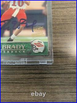 Tom Brady RC Rookie #403 Auto 2000 Pacific Authentic Autograph Only 200 Exist