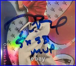 Tom Brady Signed 2000 Fleer E-X Rookie Card BGS 8.5 Gem 10 Auto 5X SB MVP /1500