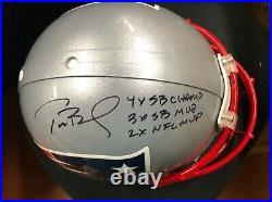 Tom Brady Signed Full Size Authentic Patriots Football Helmet Tristar Fanatics
