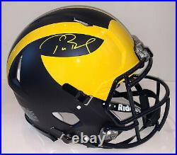 Tom Brady Signed Michigan Speed Authentic Helmet autographed Fanatics FAN TAS