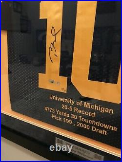 Tom Brady Signed Stat Jersey Michigan Collage