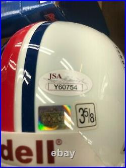 Tom Brady Signed Superbowl XXXVI Mini Helmet with SB 36 MVP Inscriptioin JSA Lett