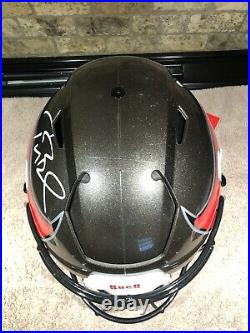 Tom Brady Signed Tampa Bay Buccaneers Speedflex Helmet. Fanatics. READ