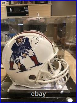 Very Rare Tom Brady Authentic Signed Patriots NFL Helmet Certified